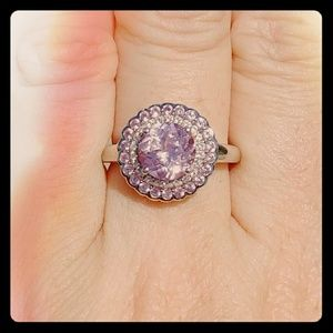 Gold over Sterling Silver Pink Sapphire Ring